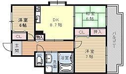 ガーデンハウス石山寺[300号室号室]の間取り