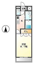 愛知県名古屋市南区道徳北町3丁目の賃貸アパートの間取り