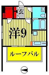 アリカ錦糸町PRESSO 9階ワンルームの間取り