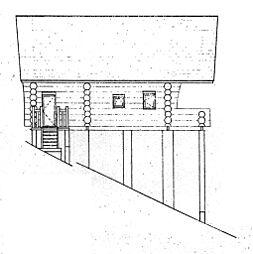 立面図(西側)