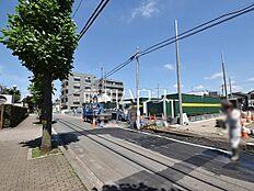 接道状況および現場風景 小平市鈴木町1丁目