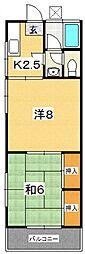 天野アパート[7号室号室]の間取り
