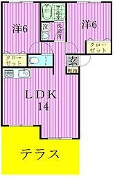 ロワ・ソレイユIII[101号室]の間取り