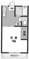K・シオン[202号室]の間取り