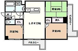 レジデンス芦屋[2階]の間取り