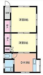 大野アパート[2階]の間取り