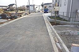 接道を撮影。