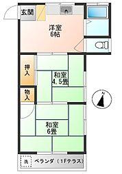 コーポ宇田川[203号室]の間取り