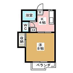 アネックス新坂[2階]の間取り