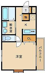 メロウビユー[2階]の間取り
