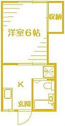 末広荘[1階]の間取り
