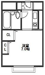 マンション新大阪[6階]の間取り