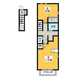 カスカータIV[2階]の間取り