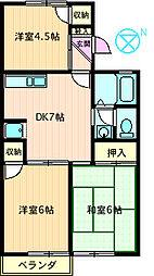 コーポラス渋谷I[202号室]の間取り