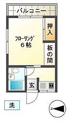 第一住好荘[2階]の間取り