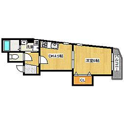兵庫県宝塚市逆瀬川1丁目の賃貸マンションの間取り