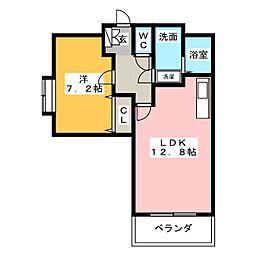 クレイン小塙II[1階]の間取り