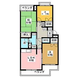 コーポたんのII[3階]の間取り