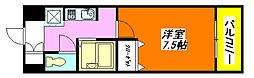 グラン・ドゥ・ルイ 406号室[4階]の間取り