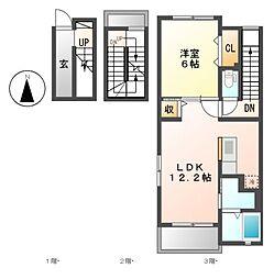 サン・パラストF III[3階]の間取り