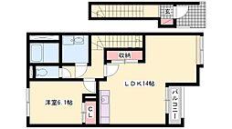 ディライトハウス宝殿[203号室]の間取り