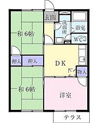 フラットGOMO[1階]の間取り
