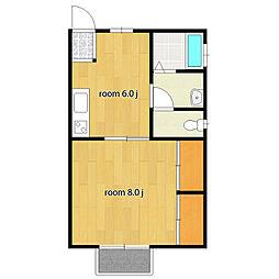サンファミールII[2階]の間取り