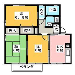 ビーナスUII[2階]の間取り