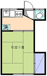 栄花荘[2C号室]の間取り