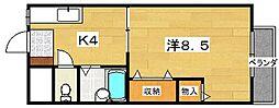 岡山手ハイツ[13号室]の間取り