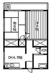 山口アパート[301号室]の間取り