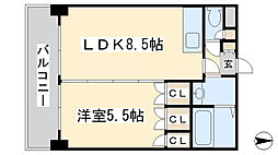 ロイヤルセンターBLD[804号室]の間取り