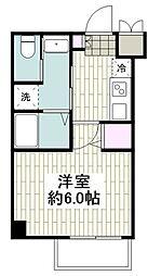アールエス湘南平塚 4階1Kの間取り