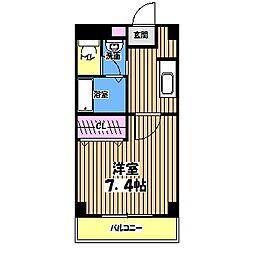 東京都西東京市東町5丁目の賃貸マンションの間取り