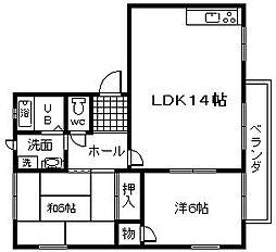 フローラ桜ヶ丘 A棟[106号室]の間取り
