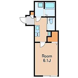 JR総武線 荻窪駅 徒歩13分の賃貸アパート 1階1Kの間取り