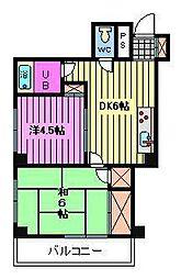 ハイグランデューレ[3階]の間取り