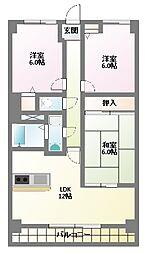 サンカーフII[3階]の間取り