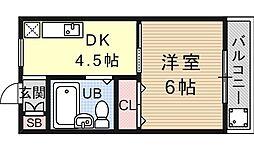 シャトレ森田[305号室号室]の間取り