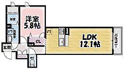 シャーメゾン鍋島[303号室]の間取り