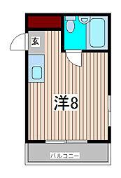 アドバンスI[2階]の間取り