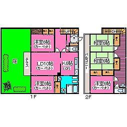 [一戸建] 北海道札幌市南区藤野四条11丁目 の賃貸【/】の間取り
