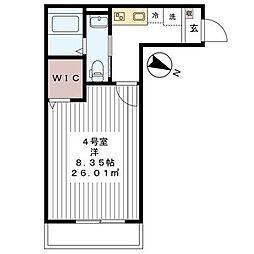 ハレマイレ・北習志野[104号室]の間取り