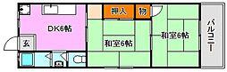 兵庫県神戸市須磨区千歳町3丁目の賃貸マンションの間取り