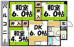 福岡県太宰府市吉松2丁目の賃貸マンションの間取り