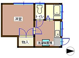 光ハイム[1階号室]の間取り
