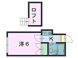 レオパレスTS奈良[203号室]の間取り