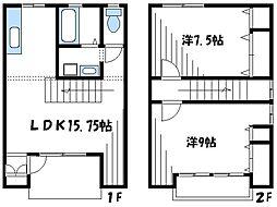 [テラスハウス] 東京都町田市大蔵町 の賃貸【/】の間取り