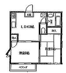 サンフラワーA棟[203号室号室]の間取り