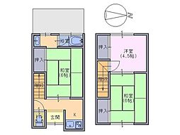 [テラスハウス] 奈良県奈良市尼辻中町 の賃貸【/】の間取り